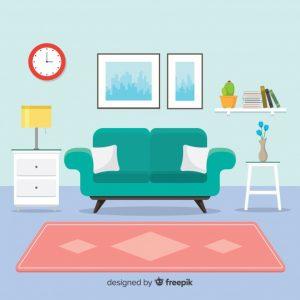 איור ספה ושטיח